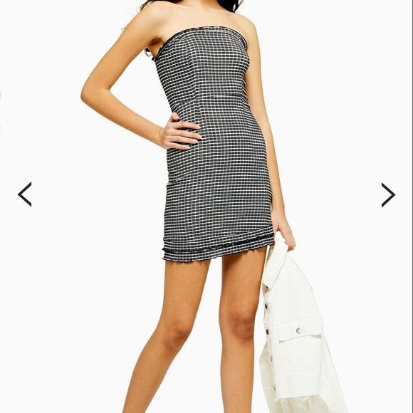 Topshop Dresses & Skirts - Check Bandeau Mini Dress